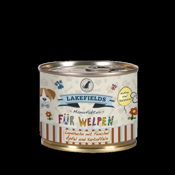 """Lakefields Dosenfleisch Menü """"Huhn"""" (Welpen)"""