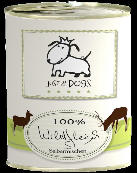 Just4Dogs 100% Wildfleisch