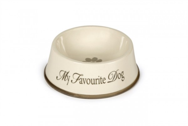 "Designed by Lotte Keramiknapf ""My Favourite Dog"" (grauer Rand)"