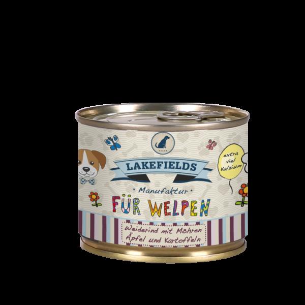 """Lakefields Dosenfleisch Menü """"Rind"""" (Welpen)"""