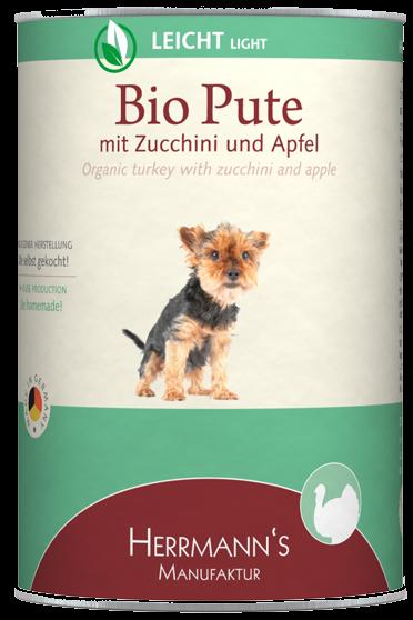 Herrmann's Bio Pute mit Zucchini und Apfel
