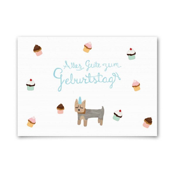 """Nelly Castro Geburtstagskarte """"Alles Gute zum Geburtstag Paco"""""""