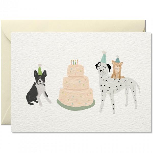 """Nelly Castro Geburtstagskarte """"Hundekuchen"""""""