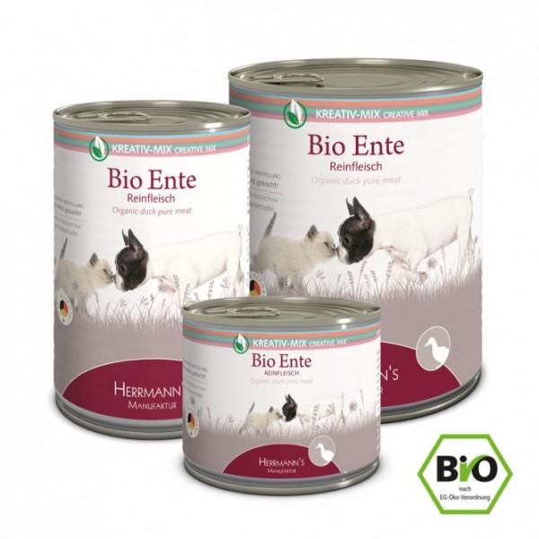 Herrmanns Aktion Bio Ente I Reinfleisch + Hirseflocken gratis